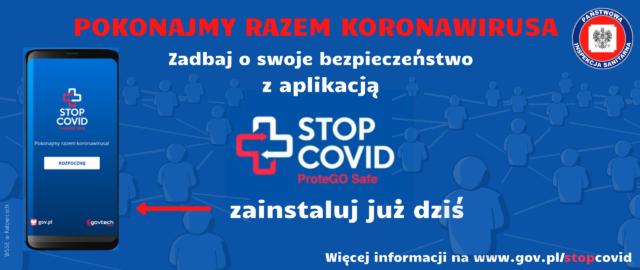 Aplikację STOP COVID